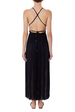 Load image into Gallery viewer, Nemea black silk-tulle maxi dress