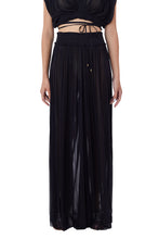 Load image into Gallery viewer, New Tegea black silk-tulle pants