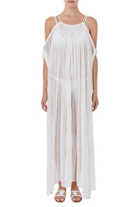 Thalassa white maxi cover-up