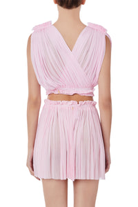 Antigone light pink wrap top