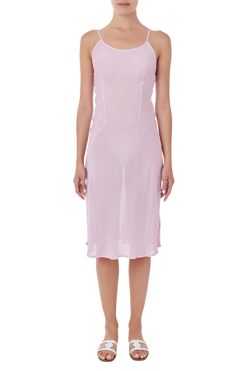 Peitho pink midi dress
