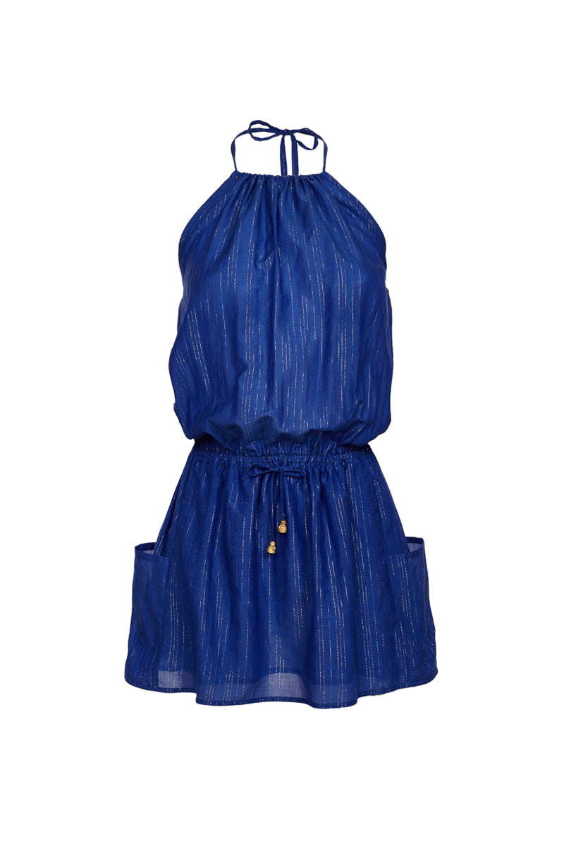 Aktis cobalt-blue mini dress