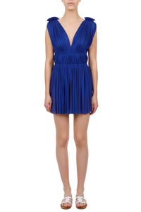 Vereniki cobalt blue mini dress