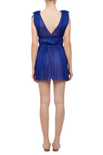 Load image into Gallery viewer, Vereniki cobalt blue mini dress