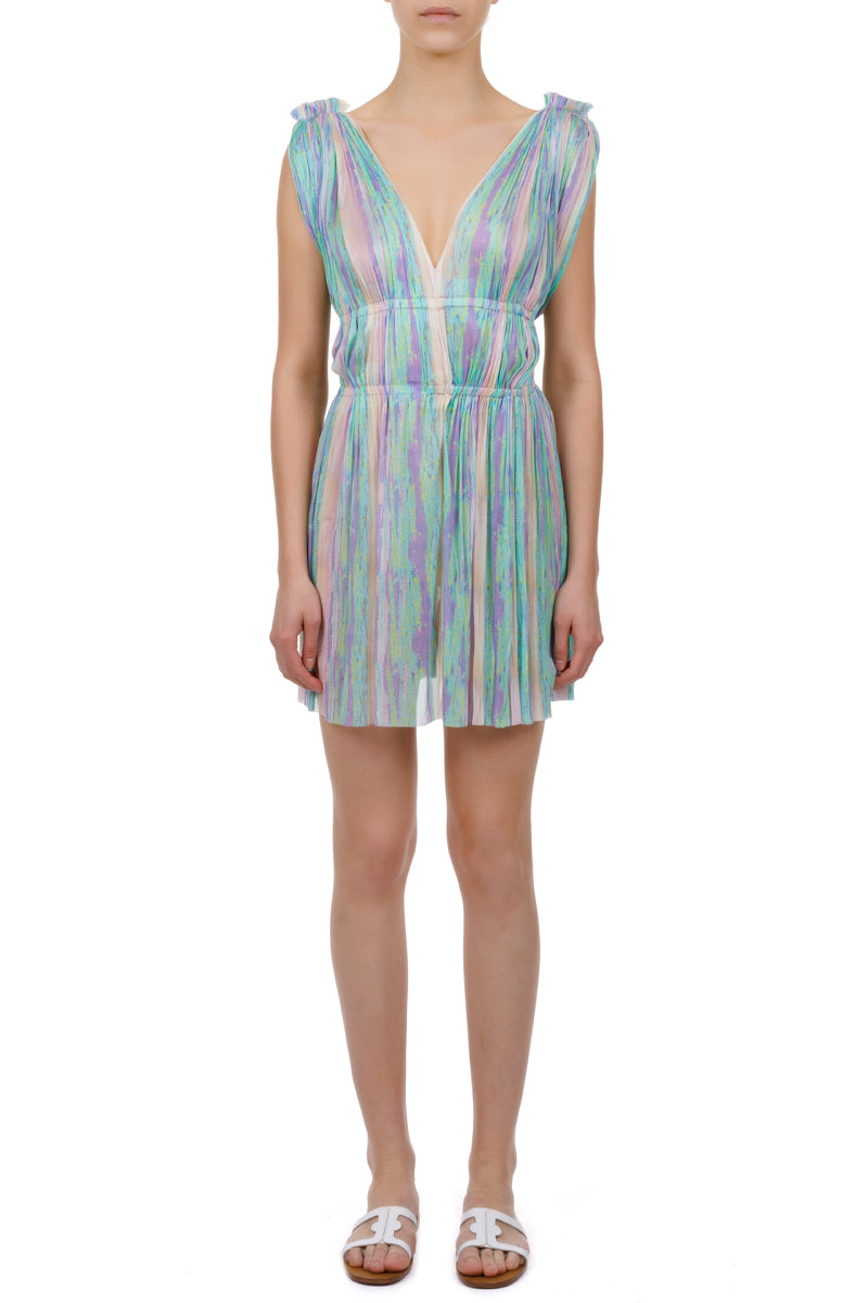 Vereniki rainbow mini dress