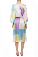 Load image into Gallery viewer, Filippias pastel silk midi kaftan