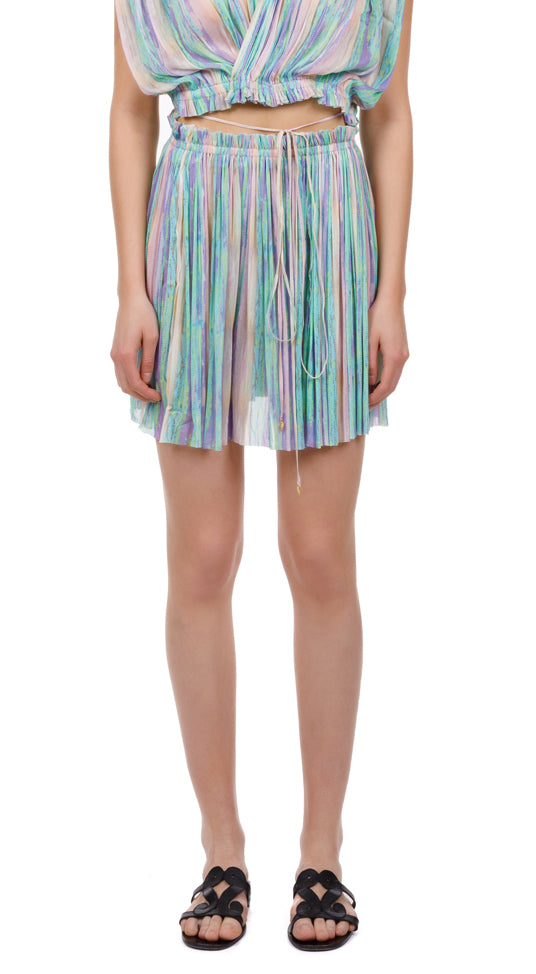 Antigone rainbow mini skirt