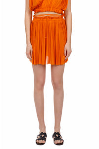 Antigone orange mini skirt