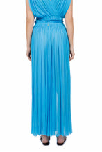 Load image into Gallery viewer, Antigone turquoise maxi skirt