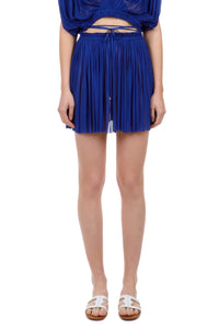 Antigone cobalt-blue mini skirt
