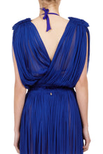 Load image into Gallery viewer, Antigone cobalt-blue wrap top