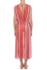 Ceasar coral-pink cover-up