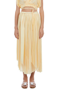 Delfis yellow asymmetric skirt