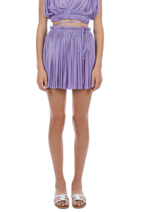 Antigone purple mini skirt