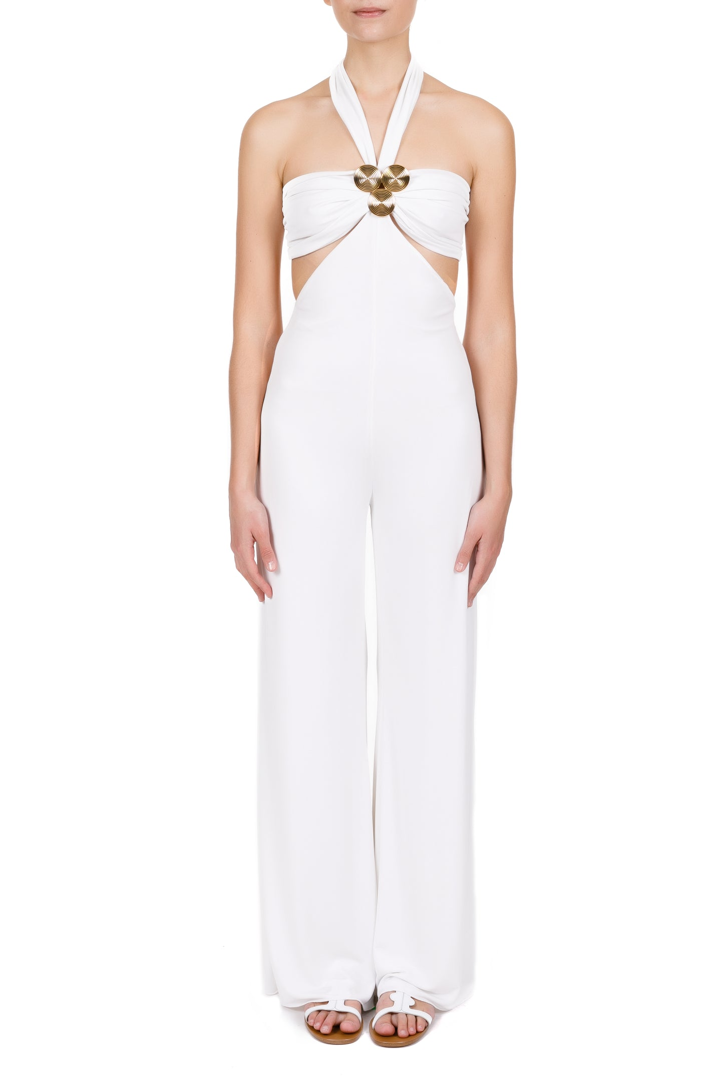 Koronis white pantsuit