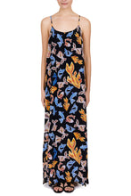 Load image into Gallery viewer, Medusa black silk maxi dress
