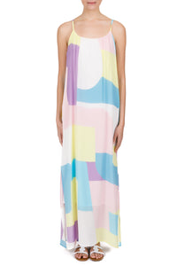 Medusa pastel silk maxi dress