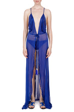 Load image into Gallery viewer, Leda cobalt blue cover-up