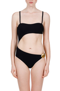 Artemis black cutout swimsuit