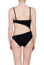 Load image into Gallery viewer, Artemis black cutout swimsuit