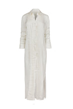 Load image into Gallery viewer, Meropi white shirt dress