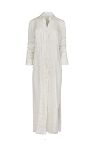 Meropi white shirt dress