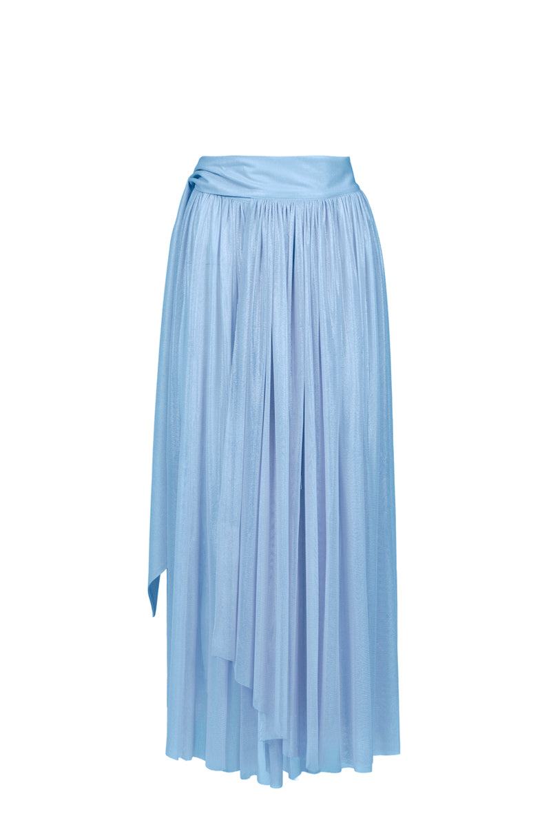Delfis light blue asymmetric skirt