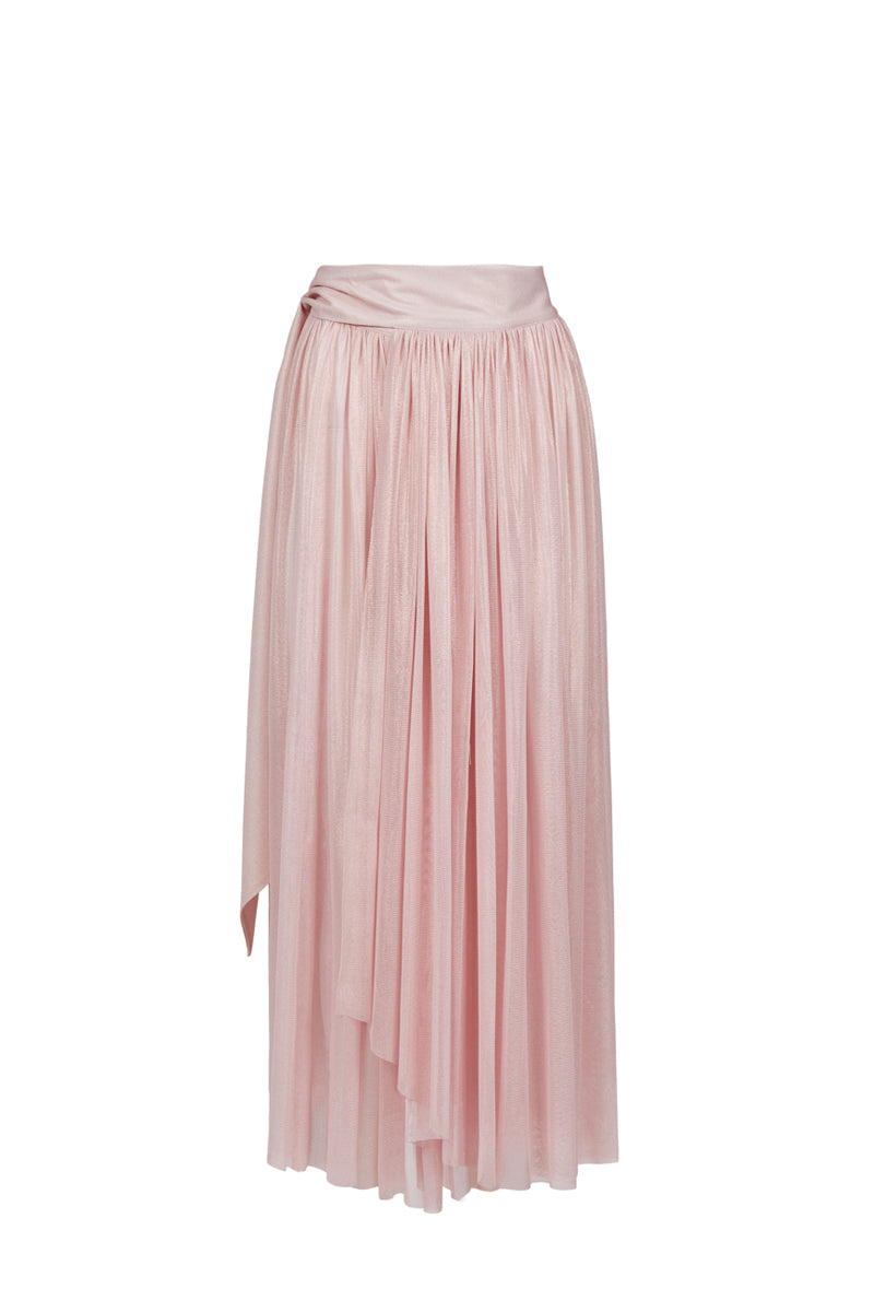 Delfis sunrise pink asymmetric skirt