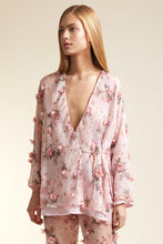 Load image into Gallery viewer, Aspasia appliquéd floral pink jacket