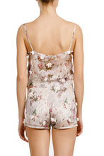 Load image into Gallery viewer, Agnes appliquéd floral beige top