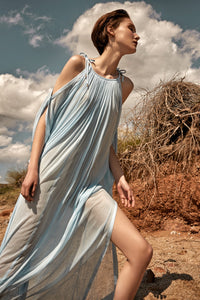 Thalassa light blue maxi cover-up