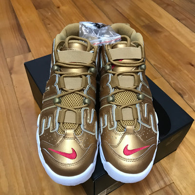 "Tênis Air Uptempo ""Supreme"" Gold"