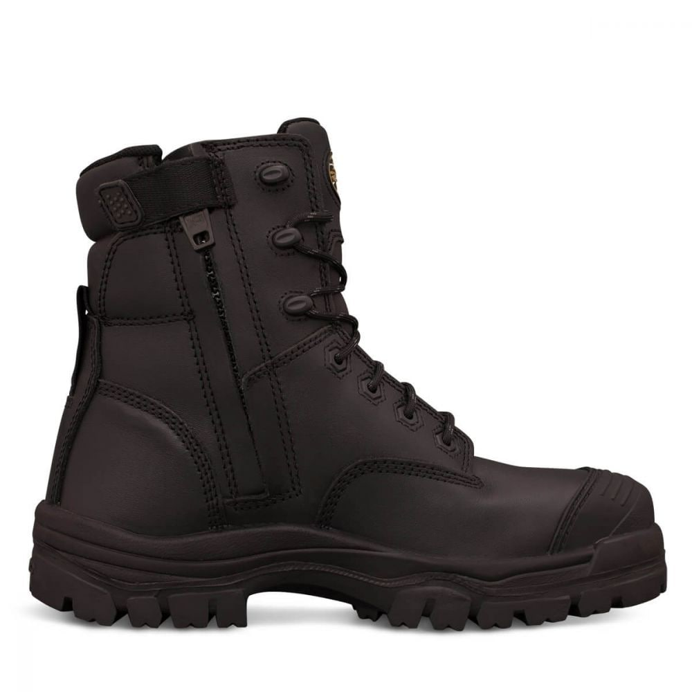 ATs Zip Side Lace Up Composite Cap Boots