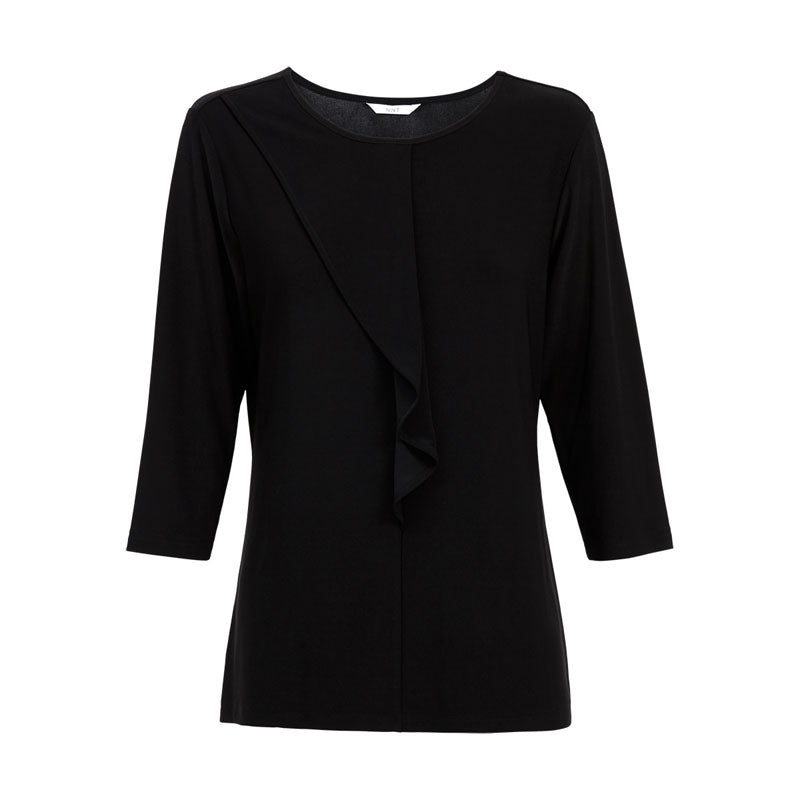 Ladies 3/4 Sleeve Round Neck Blouse