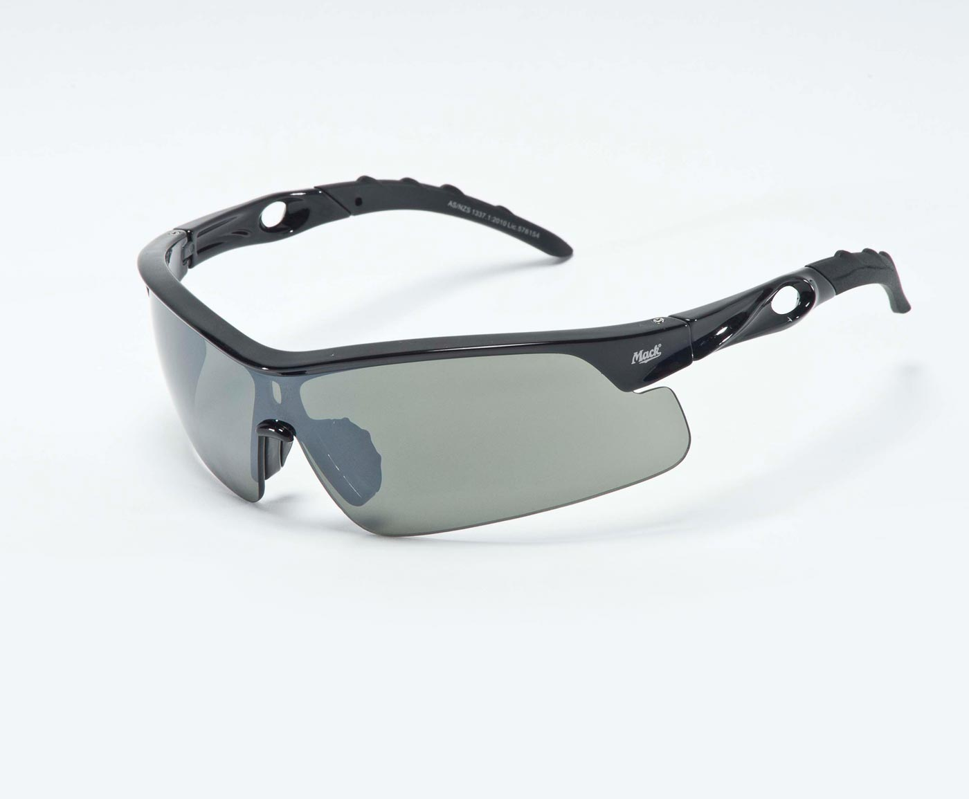 Mack Hazzard Gunmetal Safety Glasses