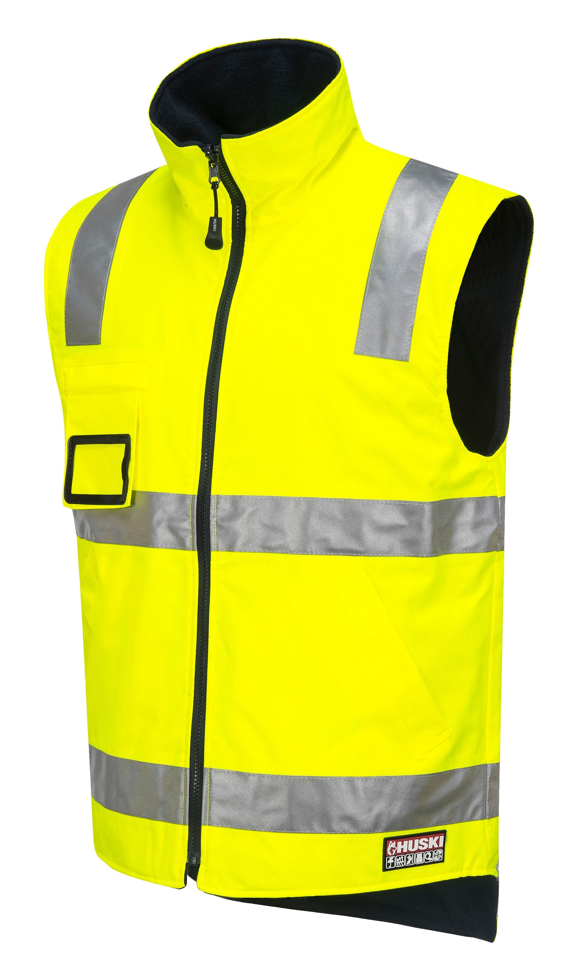 Traffic Hi Vis Reversible Vest Shoulder Taped