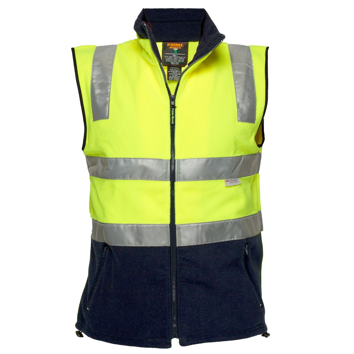 2 Tone Polar Fleece Vest Shoulder Taped - DISCONTINUED