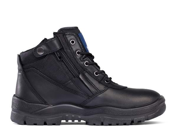 Lace Up Zip Side Steel Cap Boots