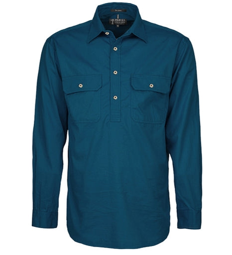 Long Sleeve Closed Front Pilbara Shirt
