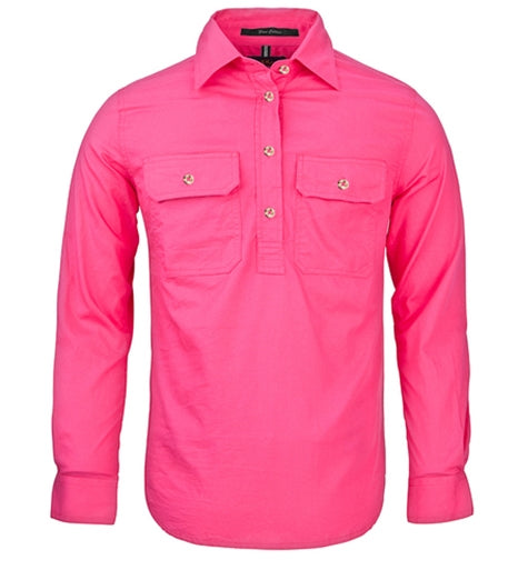 Ladies Long Sleeve Closed Front Pilbara Shirt