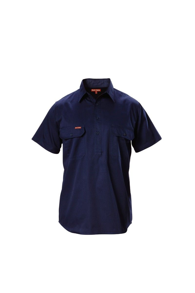 Short Sleeve Closed Front Drill Shirt