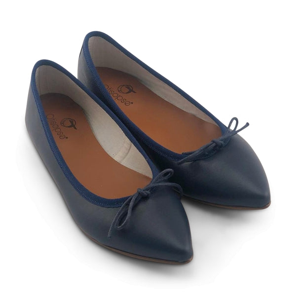 Flat shoes  in pelle blu