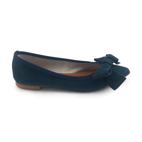 navy suede flat shoes