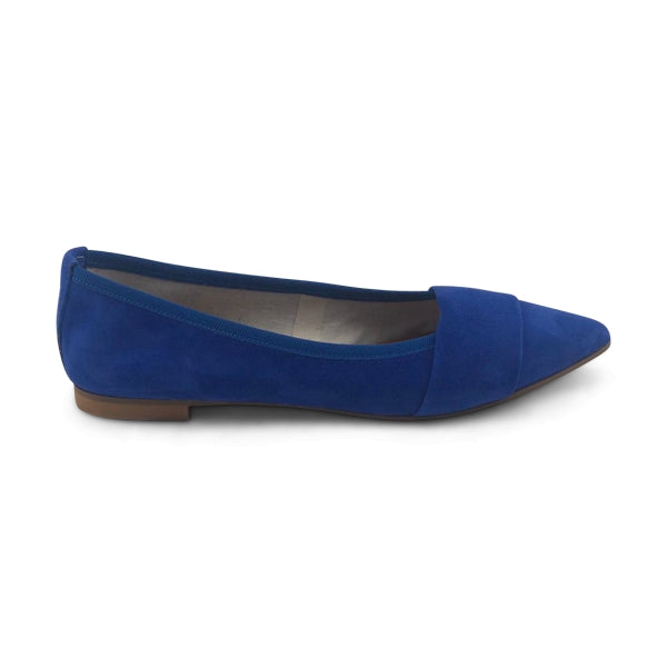 Flat shoes in camoscio bluette
