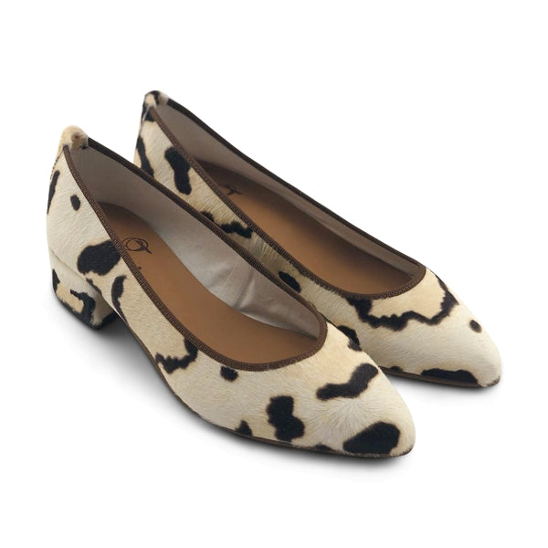 Flat shoes in pelle tacco 3cm