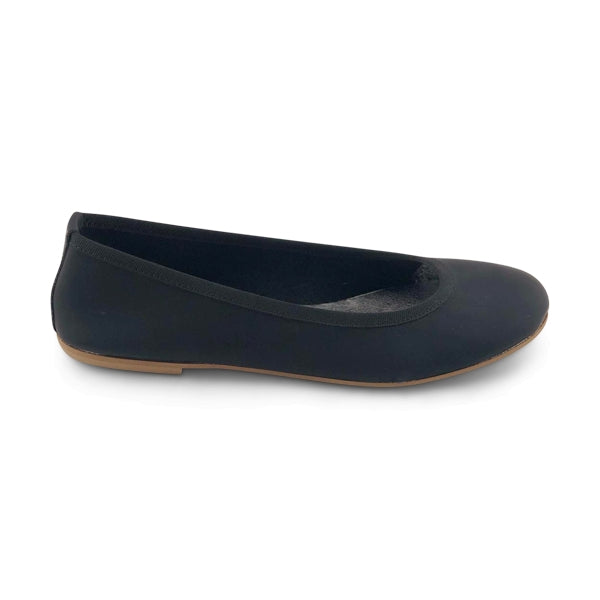 Flat shoes in pelle nera