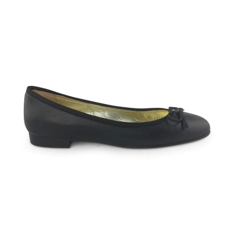 Flat shoes tassel gro black