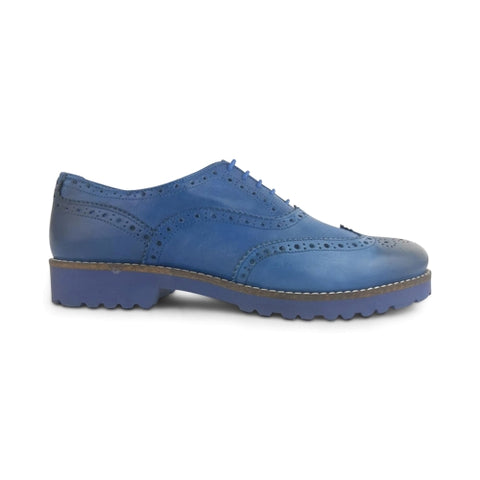 Blue leather oxford