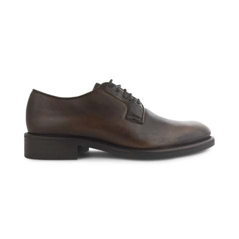 Derby chocolate leather