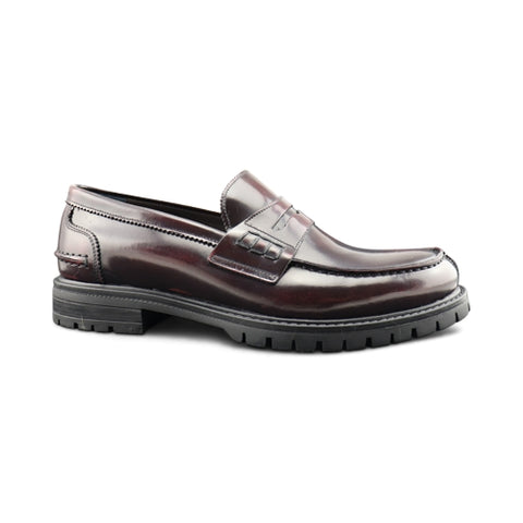 Bordeaux abrasive leather Moccasin